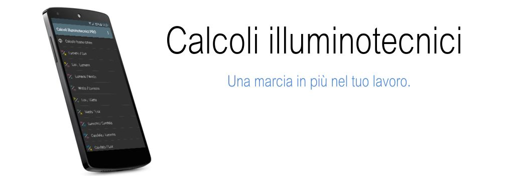 Banner Calcoli Illuminotecnici