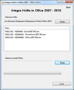 Screenshot Integra Hotfix Office